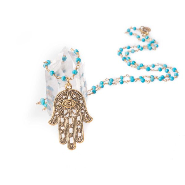 2-bohemian-style-gemstone-necklace-hamsa