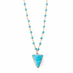2-bohemian-style-gemstone-necklaces-turquoise-triangle-rosary