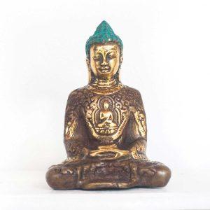 bohemian-style-home-altar-decor-meditating-buddha-statue